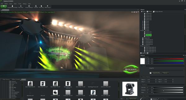 舞台灯光设计软件realizzer 3d参数