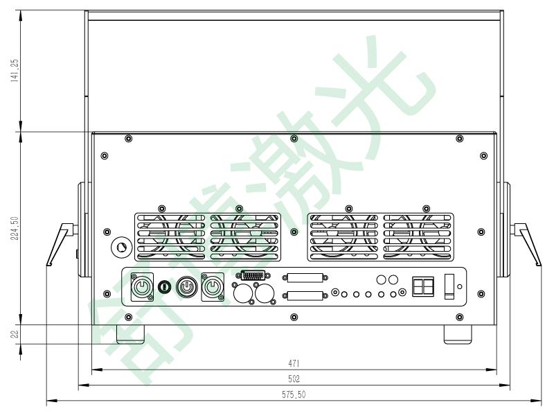 这是一个功能强大的全彩舞台激光灯系统,活跃在舞台之上,已广泛应用于各种巡回演唱会、重大演出活动中。 此款户外激光灯经过长时间的实际应用,系统的稳定性以及细腻的激光光斑已获得众多专业人士一致认可。 特别设计的温控系统。 它可以在零下20度到零上40度的环境温度下工作,并且有自主超温保护,你再也不需担心娇贵的激光器因为过热而损坏。 可搭载在Pico系列户外激光防水箱,可以在户外长期使用,不惧风雨。 全系统密封设计,杜绝飞虫雾气渗内,影响运作。 整个散热系统全部由MCU进行精确控制,如果激光灯的内部内温度达到正